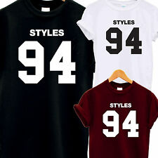 HARRY STYLES 94 T SHIRT TOP TEE ONE DIRECTION 1D MUSIC FAN D.O.B TUMBLR HORAN