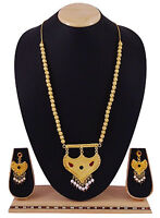 Goldplated Indian Women Necklace Earring Set Traditional Jewellery BNG312-PAR