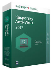 Kaspersky Antivirus 2017 Licenza 1 Anno x 3PC Windows 100% Originale Fatturabile