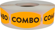 Combo Grocery Market Stickers, 0.75 x 1.375 Inches, 500 Labels on a Roll