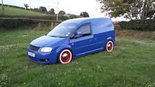 "American Classic Style 4X15"" Whitewall Portawall tyre trim set VW Caddy Golf"