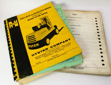 HYSTER S60B S70B S80B S100B Forklift Parts Owner Operator Operation Manual Book