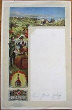 Grand Marnier Liquor/Liqueur Advertising on 1920s Artist-Signed French Menu