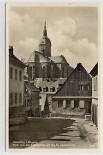 AK Annaberg, Erzgeb., Farbegasse und Annenkirche um 1930 Foto-AK