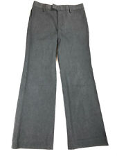 Banana Republic Women's Pants Size 6 Harrison Fit Gray Wide Leg Trouser