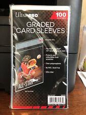 1000 Ultra Pro Graded Card Sleeves 10 Packs of 100 for PSA Beckett Graded Cards