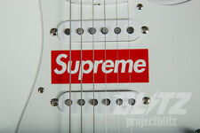 SUPREME / FENDER STRATOCASTER GUITAR WHITE RED BOX LOGO FW17 2017 ACCESSORY CDG