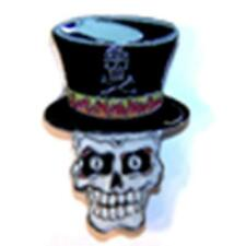 SKULL TOP HAT - HATS OR JACKET PIN pin348 new jacket lapel metal skeleton X bone