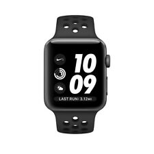 NEW Apple Watch Nike+ 42mm Space Gray Aluminum Case Black Sport Band MQ182LL/A