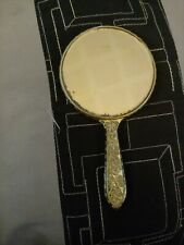 Vintage Hand Mirror 5 1/4 Inches Tall Mirror On Both Sides