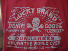 LUCKY BRAND DUNGAREES RED LONG SLEEVE THERMAL SHIRT S - RARE - BRAND NEW - NWT