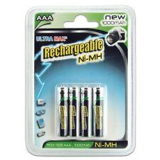 * Ultra Max Recargable, Aaa/R03 tamaño, ni-mh, 1000 Mah, 4 baterías en un paquete *