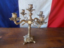 Decorative Heavy French Vintage 5 Arm Brass Gold Candelabra Ref T21/44