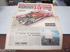 L AUTO JOURNAL N° 266 23 02 1961 3 CV CITROEN 1ERE PRESENTATION MONDIALE *