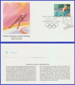 USA5 #2613 U/A FLEETWOOD FDC   Winter Olympics Speed Skating