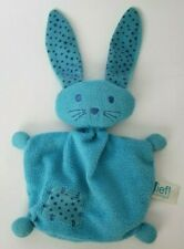 Lief! Lifestyle Blue Bunny Terrycloth Baby Lovey Security Blanket Long Ears Star