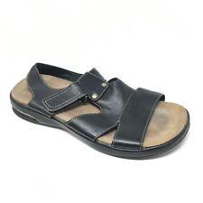 Men's Cole Haan Air C04698 Sandals Shoes Sz 11M Black Leather Strappy Outdoor R9