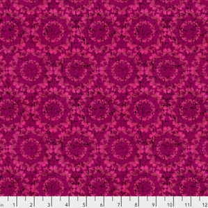 Free Spirit Mimcry - Magenta Cotton Quilting Fabric BTY frm Chrysalis Collection