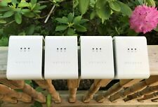 NETGEAR XET1001 85Mbps Powerline Wall Plugged Ethernet Adapter Set Lot of 4