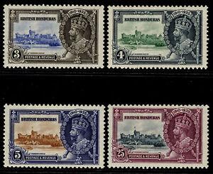 BRITISH HONDURAS GV SG143-146, SILVER JUBILEE set, LH MINT. Cat £21.