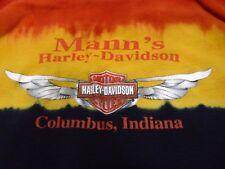 Harley-Davidson - Columbus, Indiana - Red & Black Tie Dye - Women's Medium Tank