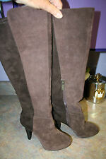 NEW JESSICA SIMPSON KNEE HIGH Boots Size 6 M $190 TALL HEELS  BROWN SUEDE