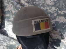 """Bonnet polaire """" BELGIUM """" Belgique Armée Belge ABL OD BLACK BEANIE polar ski"""
