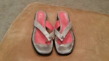 POS OLE ROUGE Womens Silver Sparkly Flip Flops Size 39/8.5