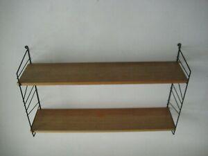 60er 70er # String Regal # Buche Vollholz # Regalsystem Wandregal Shelf Unit