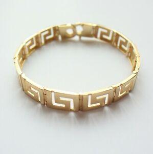 "Bracelet 7.5"" Yellow Gold 9ct Patterned Men Ladies Girls Boys Unisex 15g"