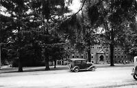 Hartford Michigan~Kids @ High School~1920s Car~1940s Real Photo Postcard~RPPC