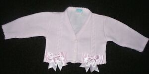 KINDER COLLECTION PRETTY PINK CARDIGAN WITH BOWS SIZE 18/24 MONTHS