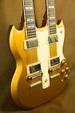 Gibson EDS-1275 Gold Double Neck SG Electric Guitar Rare