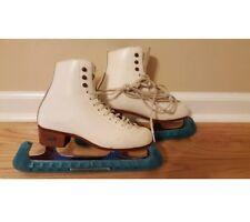 RIEDELL - white ice skates- Size 4 M- John Wilson Blades
