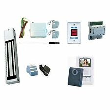 Magnetic Lock Kit W/Color Video Intercom System (SD Card Recording Capability)