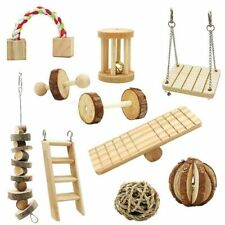 Hamster Chew Toys Natural Wooden Pine Small Pets Toy Tools Accessories Exercise