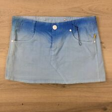 Bettina Liano Women's Denim Mini Skirt Blue Ombre Size 12 L13 NWOT (BLB)