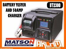 MATSON BT2300 - BATTERY TESTER AND 50AMP CHARGER - LED USB AMP VOLTAGE 12V 24V