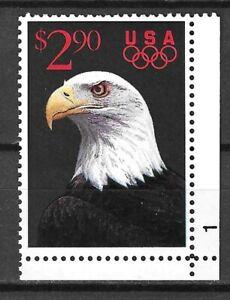 USA 1991 Wildlife Fauna Birds of Prey Vögel Oiseaux Eagle Olympic stamp $2.80
