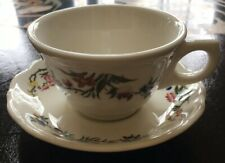 Syracuse China Cup And Saucer Set BOMBAY Pattern, NWT