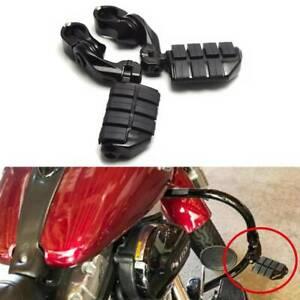 Universal Black Motorcycle Highway Foot Pegs Footpegs Pedals Clamps Motorbike AU