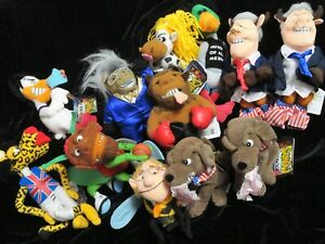 In Famous Meanies Complete Series Of 12 Pc. Bean Bag ADULT Plush Toy Celebrities