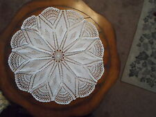 "Hand Crocheted "" Still Beauty"" Doily ~ Brand New ~ White ~ 32"""