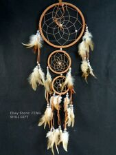 Long/Big Bead Handmade Hanging Feather Dream Catcher Decoration Ornament Black m