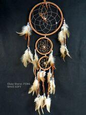 Long/Big Bead Handmade Hanging Feather Dream Catcher Decoration Ornament Black m