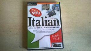 TEACHING YOU ITALIAN 2nd SECOND EDITION - PC / MAC LANGUAGE TRAINING CDROM - NEW