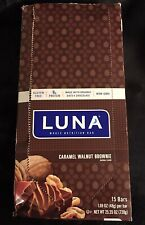 Luna Bars Caramel Walnut Brownie Whole Nutrition Bars - 16 Count - Exp: 09/20