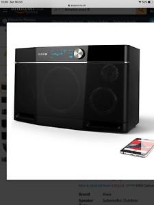 Aiwa EXOS-9 Bluetooth Speaker, 200 Watt, 9 hrs playtime, subwoofer