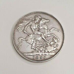 Silver Victorian Crown 1896