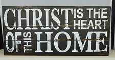 Christ is the heart of this home - Box sign by Adam & Co. #10426